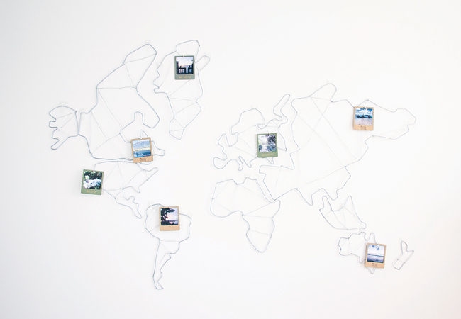 The Dream Map with photo frames